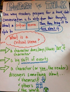 Teaching students to locate and talk about critical scenes in books