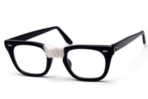 I went a year with my glasses like this. I hoped at the time that it gave me a nerdy chic...