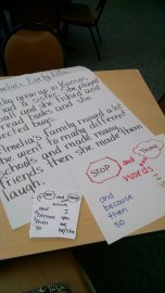 @AlyssaKocher1 making an anchor chart & bookmarks for her kids