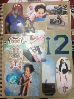 @mrjteague makes the cover for his demonstration notebook
