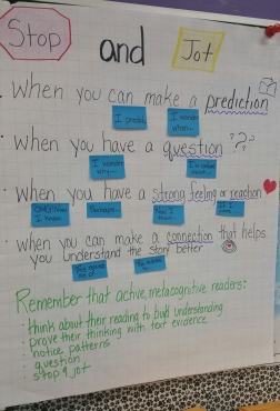 Darlene Daley's Process Chart for her 3rd Graders